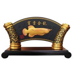 金乌炭雕 富贵金龙 办公桌面摆件 炭雕工艺品 送领导