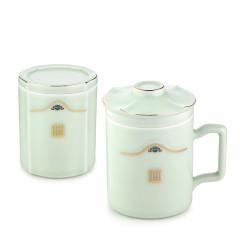 菲驰(VENES)龙泉青瓷民风元素茶艺杯两件套 礼品200元左右
