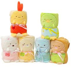 可爱立体卡通动物法兰绒毛毯  员工活动礼品有哪些