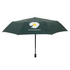 全自动小雏菊黑胶晴雨伞三折叠防晒防紫外线雨伞 促销礼品