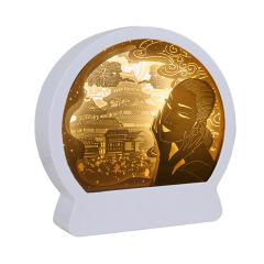 惊鸿一瞥彩3D立体纸雕灯简约设计 比赛奖品