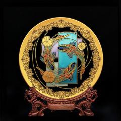 【无极】中透锦鲤桌面摆件 320mm 创意商务礼品案例