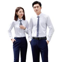 2020年秋季新款男女同款长袖衬衫 商务职业正装 可定制公司logo