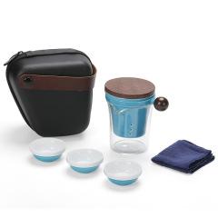 【拾趣】便捷旅行茶具快客杯礼盒 一壶三杯带公杯 适合送给客户的礼品