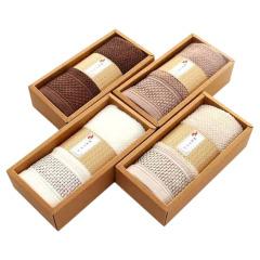 【单条装】蜂窝毛巾舒适吸水 纯色简约加厚面巾礼盒装 客房小礼品