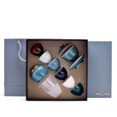 【霁青】多彩陶瓷茶具礼盒 10件套 300元可以买什么礼品