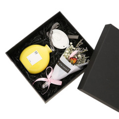 艺术圆润瓶+石膏天使牌+永生花无火香薰礼盒套装 适合公司生日会的小礼品