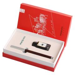 英雄(Hero) 檀木钢笔式书法毛笔 笔墨套装礼盒 商务办公礼品