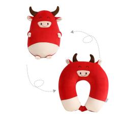 卡通牛年造型u型枕 泡沫粒子变形枕 实用礼品的选择