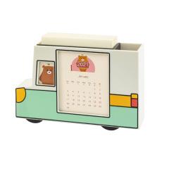 2021自由熊台历 创意小车造型二合一桌面台历 趣味日历桌面摆件