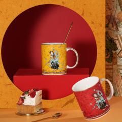 敦煌国潮文创陶瓷马克杯礼盒 定制骨瓷创意情侣杯礼盒 创意商品