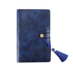 A6复古带流苏绑带活页笔记本 记事本定制 办公礼品