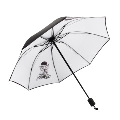 田园犬系列黑胶晴雨伞 防晒太阳伞防紫外线遮阳伞 地推小礼品