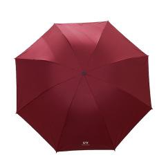 UV四折外翻伞 黑胶防紫外线太阳伞抗风折叠晴雨伞 夏日活动礼品