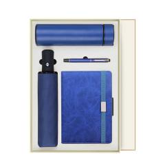 经典商务礼盒套装 保温杯+雨伞+笔记本+签字笔 公司活动奖品
