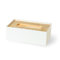 北欧风马卡龙色抽纸盒 橡木盖纸巾抽纸巾盒(小号) 公司员工生日礼物