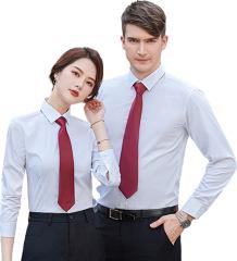 2020年秋季新款男女同款长袖衬衫 修身免烫 公司定制工作服