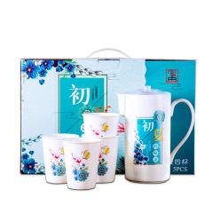 中礼 一壶四杯水具套装 陶瓷凉水壶 冷水壶 给客户送什么