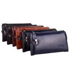 男士商务休闲长款拉链钱包软皮大容量手拿包   过年送礼