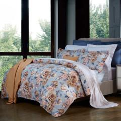 【暖日花香】富安娜家纺 纯棉印花四件套双人床上用品 周年庆礼品