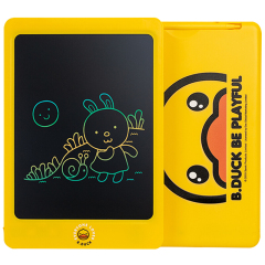 B.Duck 小黄鸭儿童手写板 彩色儿童画板 10.5寸手绘板 彩色液晶手写板 儿童节礼品