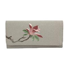 【蘇州博物館】緙絲真皮三折錢包  古典簡約  紀念禮品