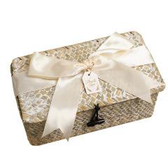 手工藤编小竹篮伴手礼礼盒 绸缎丝带款礼盒 创意礼品有哪些