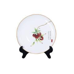 【廣彩嶺南荔香】手繪創意陶瓷盤 桌面擺件 精美禮盒
