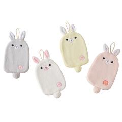 珊瑚绒小白兔擦手巾 可爱卡通可挂式吸水毛巾 可定制的小礼品
