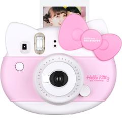 富士(FUJIFILM)INSTAX 拍立得 一次成像相机 HelloKitty特别版相机 - 粉色蝴蝶结