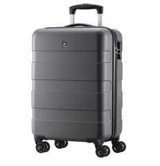 瑞动(SWISSMOBILITY)纯ABS旅行箱万向轮行李箱 旅行箱灰色20英寸 拉杆箱男女 企业定制