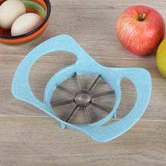 小麦秸秆不锈钢水果切片器 苹果切--北欧蓝 火锅店大转盘抽奖奖品