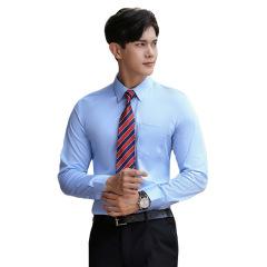 秋季男女同款长袖衬衫 棉质免烫商务正装 公司定制工作服