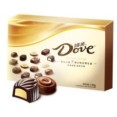 【京东伙伴计划—仅限积分兑换】德芙 Dove精心之选多种口味巧克力礼盒 休闲食品 140g