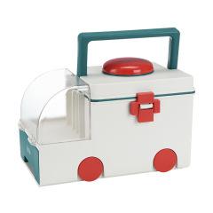 家庭医药箱收纳箱 家用创意大号双层救护车造型药箱 家居礼品