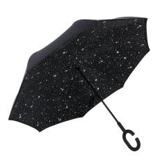 满天星反向伞 创意第三代c型手柄双层免持式反向伞 长柄伞 公司活动纪念品