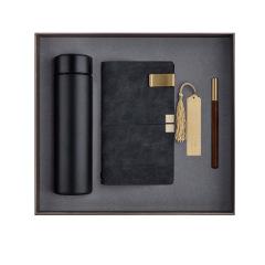 实用商务精美礼盒 保温杯礼品套装多功能笔记本礼盒装黄铜木笔年会公司 商务礼品都有什么