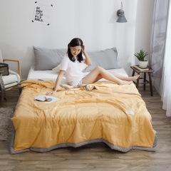 【純色款】無印良品風水洗棉夏被 簡約夏涼被 空調被 福利禮品