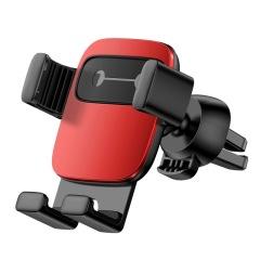 创意表情小方块车载手机支架汽车出风口重力手机支架  汽车行业促销礼品