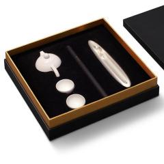 茶香礼盒 德化白瓷茶具+香插 送领导高档实用礼品