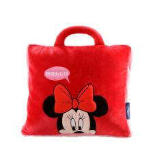 迪士尼(Disney)Hello米妮卡通抱枕被 多功能抱枕 午休枕 办公室法兰绒空调毯 工会活动纪念品