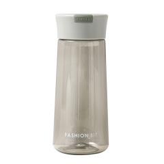 简约英文朋克塑料杯 户外便携太空杯 带茶漏防摔水杯500ML 员工福利送什么