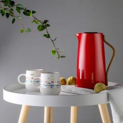 菲驰(VENES)迈凯伦时尚玻璃内胆家用壶陶瓷杯套装古典红 礼品送什么好