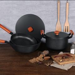 德國NOLTE 阿爾卑斯鑄鐵炒鍋+煎鍋+湯鍋典藏三件套 實用類獎品