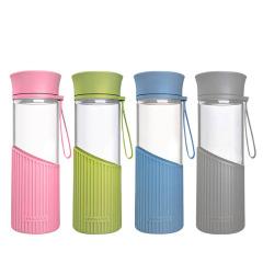 乐扣乐扣(Lock&Lock)便携耐热玻璃杯500ML水杯茶杯 LLG673s运动礼品