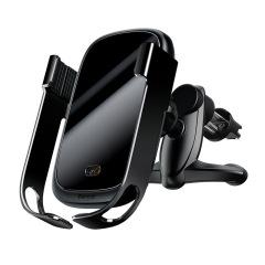 车载无线充手机支架出风口无线充电汽车重力智能支架 汽车礼品