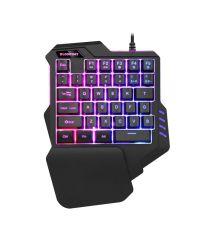 单手键盘七彩RGB背光非机械笔记本电脑游戏键盘  送给孩子的小礼品