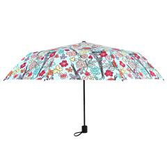 小巧便捷太阳伞 晴雨两用折叠黑胶防晒遮阳伞 可以定制的礼品