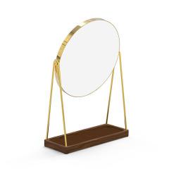 MUSOR 托盘支架款镜子实木梳妆镜带置物底盘收纳镜 工会活动纪念品