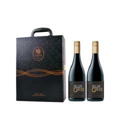 【黑色老爷车双支皮盒装】春节礼盒套装 红葡萄酒750ml*2 春节给员工送什么